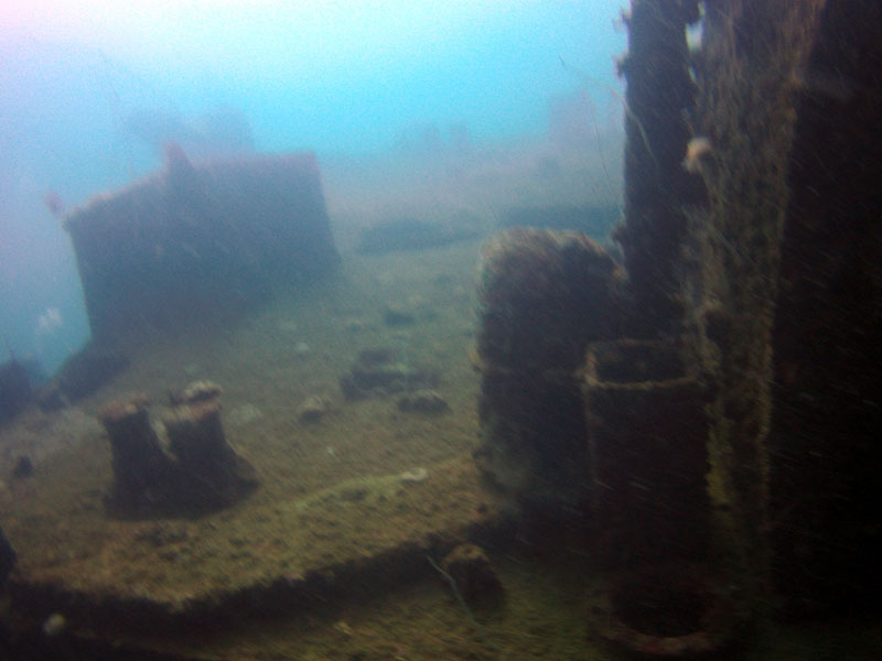 Landing Craft Utility LCU Wreck in Subic Bay Philippines