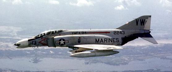 McDonnell Douglas F-4 Phantom F-4B_VMFA-314_1968