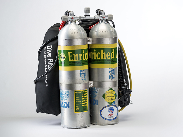Technical Diving Equipment - Twin Tank Backmount Setup