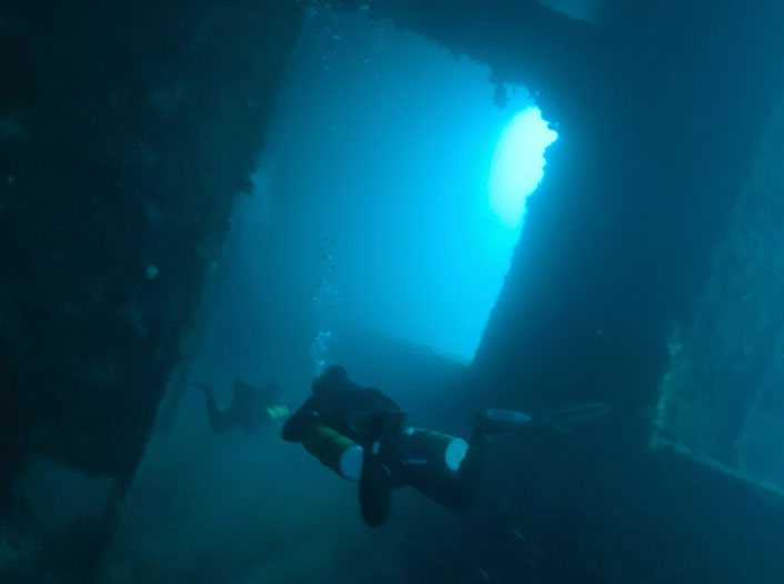 El Capitan Wreck Dive Site in Subic Bay Philippines Arizona Dive Shop
