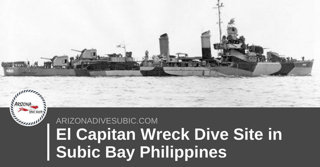El Capitan Wreck Dive Site in Subic Bay Philippines