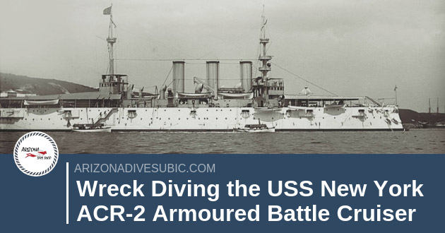 Wreck Diving the USS New York ACR-2 Armoured Battle Cruiser in Subic Bay Philippines